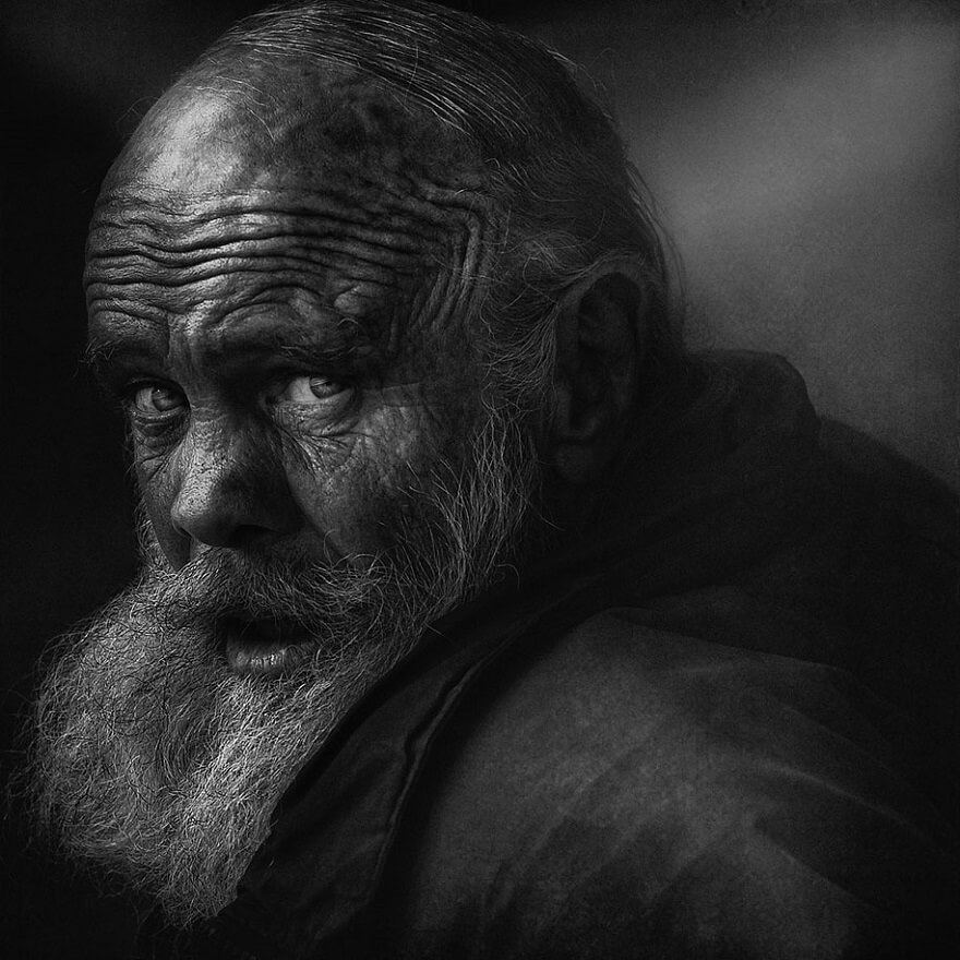 Lee Jeffries sans-abri, portraits