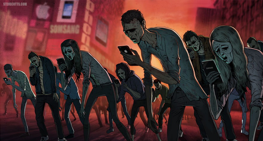 Steve Cutts, illustration, société moderne