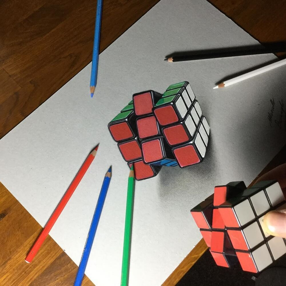 Cube, relief