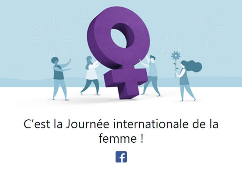 Journée internationale, Femme, Facebook