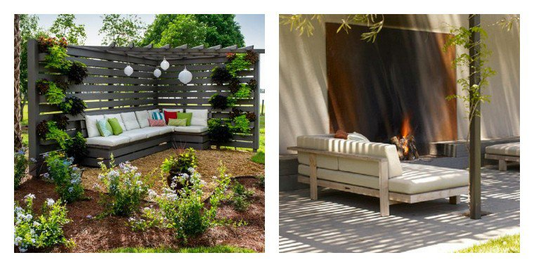 deco avec palette pour jardin. Black Bedroom Furniture Sets. Home Design Ideas