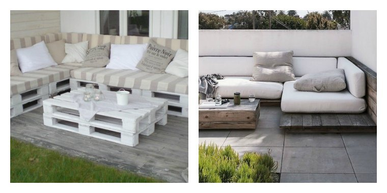 50 id es originales pour fabriquer votre salon de jardin en palette. Black Bedroom Furniture Sets. Home Design Ideas