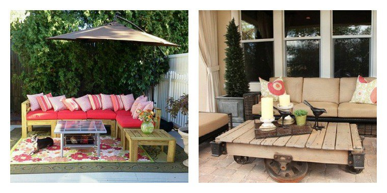 salon de jardin palette simple des id es