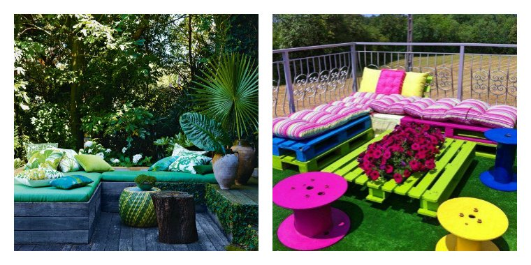 Beautiful salon de jardin en palette fait maison photos - Salon de jardin fait main ...